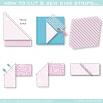 How to cut & sew bias strips