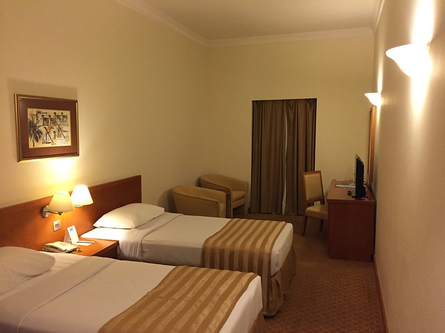 Complimentary hotel room