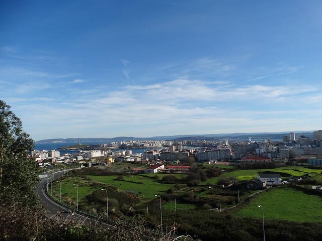 Mirador en el parque de Bens en A Coruña