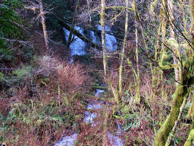 Unnamed waterfall (possibly seasonal) on the far side of Sweet Creek