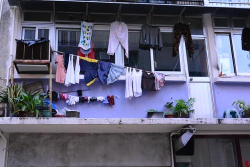 太平山街おしゃれな洗濯物