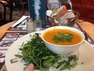 Carrot soup at Rn Express