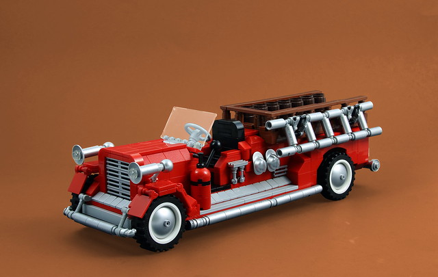 lego fire truck trailer instructions