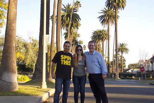 Nacho y Daniel con Gisel Beverly Hills