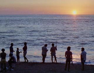 Puesta de sol en Puerto Vallarta. Foto de 1990
