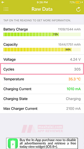 Battery Life: check internal battery statistics