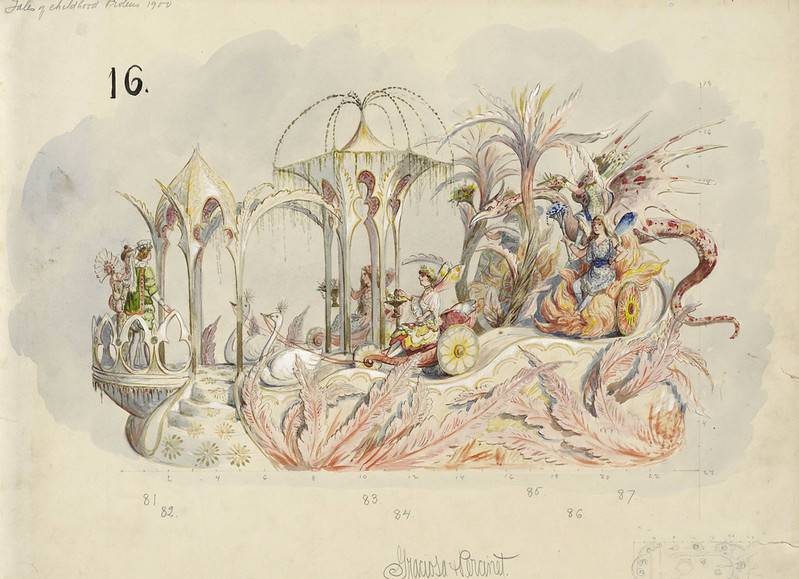 Bror Anders Wikstrom - Graciosa and Percinet, float design from Krewe of Proteus, 1900