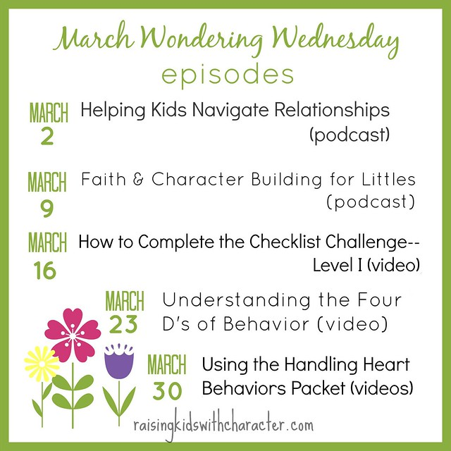 March Wondering Wednesday Episodes