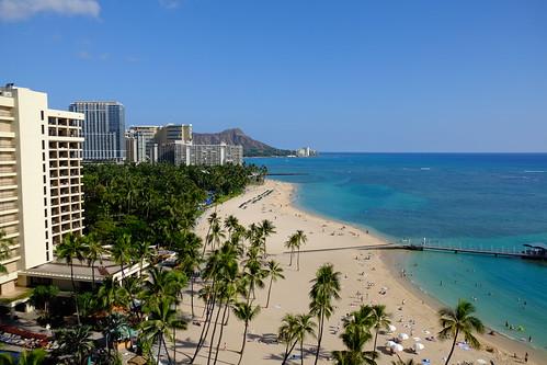 At Waikiki beach