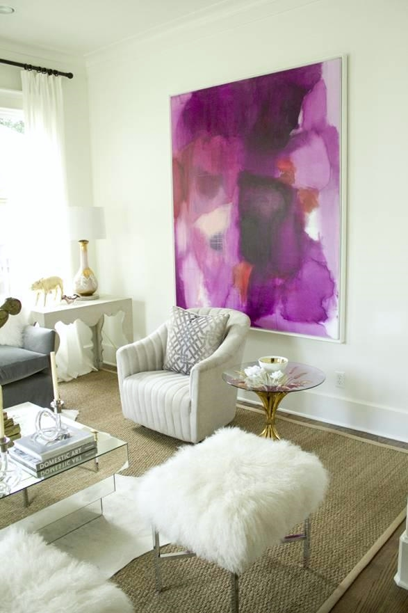 Neutral Walls and Decor with Colorful Artwork | Home Decor Inspiration