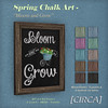 "@ The Wash ~ [CIRCA] - Spring Chalk Art - ""Bloom and Grow"""