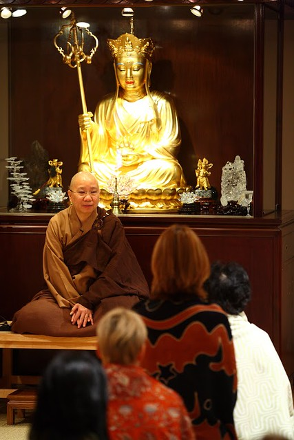 Mindfulness meditation course, old meditation hall, Po Lam, Chilliwack. From Po Lam Buddhist Association, Chilliwack, Canada