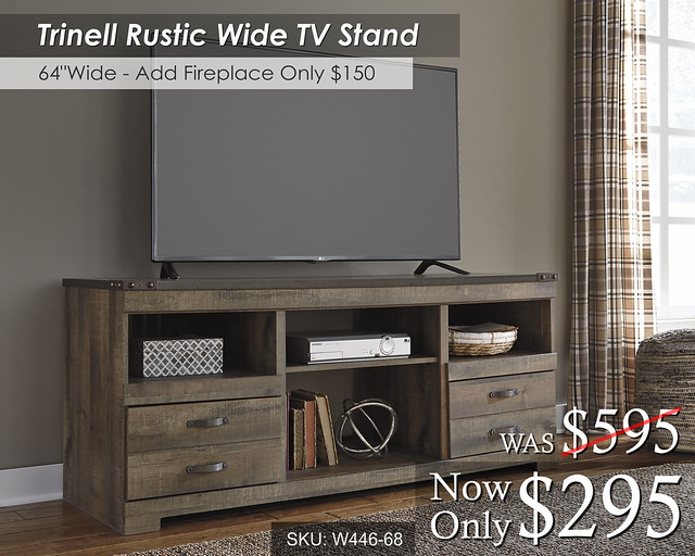 Trinell Rustic TV Stand