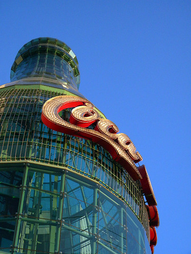 Neon Coca Cola bottle building in Las Vegas, USA