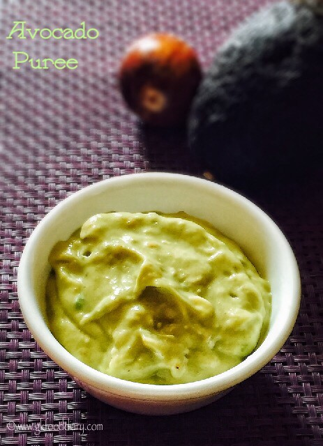 Avocado Puree Recipe for Babies | Baby Purees