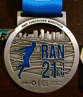 BMO Vancouver half marathon 2015 medal