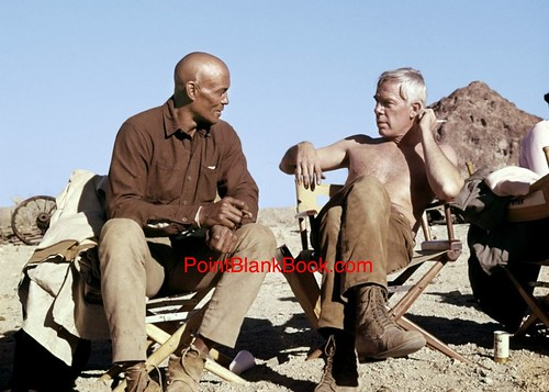 The Professionals - backstage 4 - Woody Strode and Lee Marvin