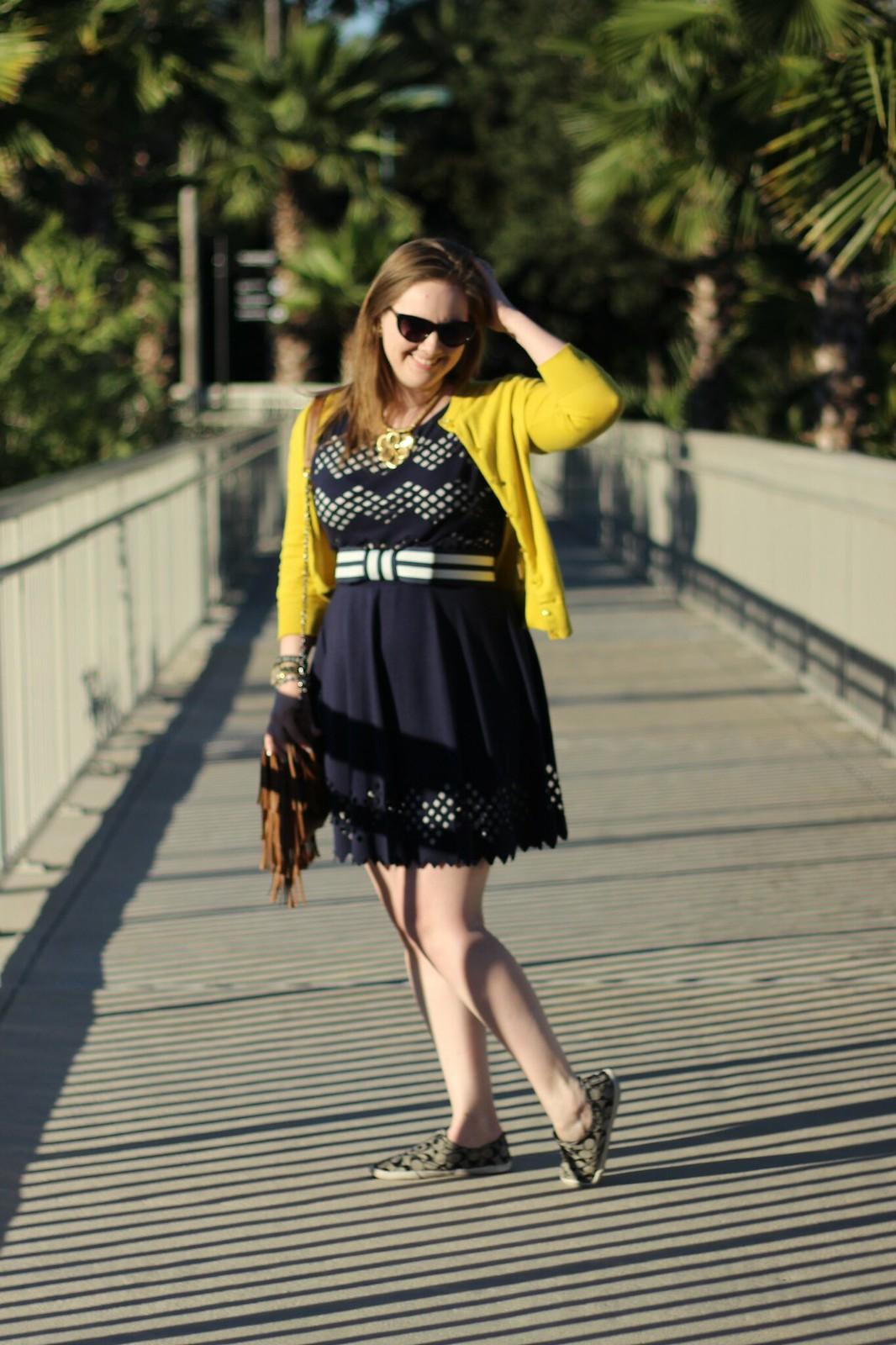 Kate Spade bow belt dress cardigan