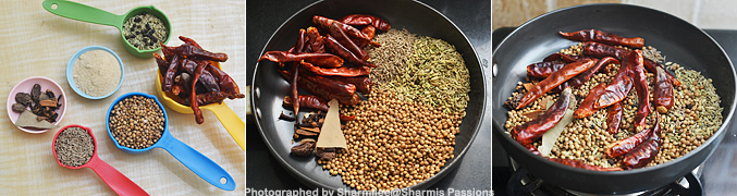 How to make Homemade Pav Bhaji Masala Powder - Step1