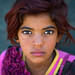 gypsy girl with red hair, Central County, Kerman, Iran by Eric Lafforgue