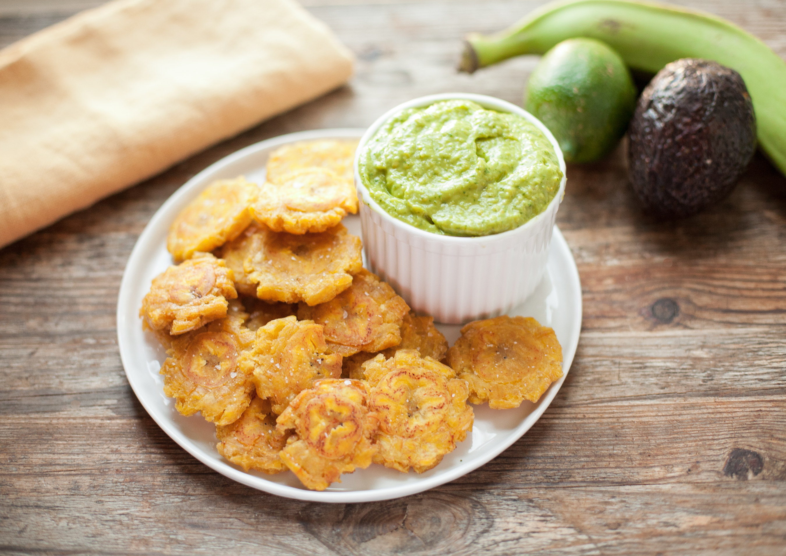 Tostones with Guasacaca from Paleo Planet (Whole30)