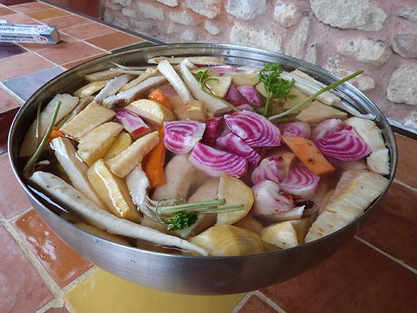 légumes épluchés