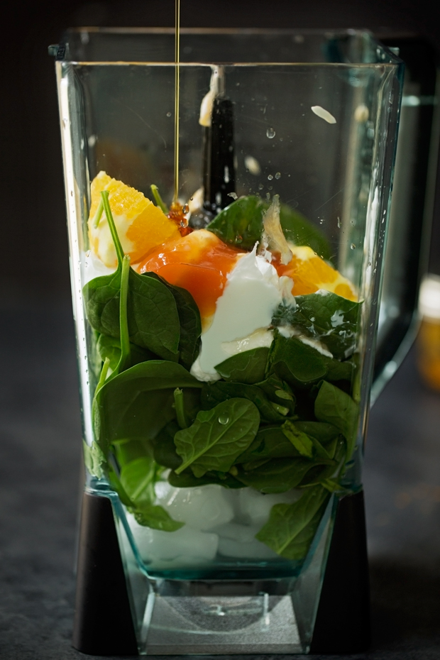 Cold-Buster Citrus Green Smoothie - Loaded with lots of cold fighting ingredients to get you back up on your feet in no time! #greensmoothie #citrusgreensmoothie #coldbustersmoothie   Littlespicejar.com