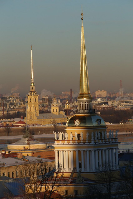 View from St. Isaac's Cathedral to Church of Peter and Paul.
