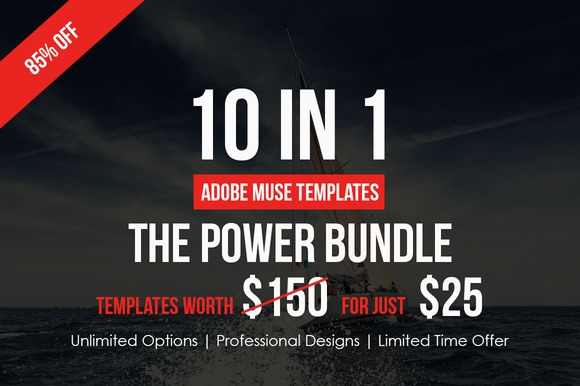 Creativemarket Adobe Muse Bundle – 10 Templates