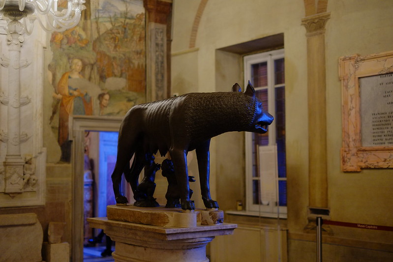 she-wolf with Romulus and Remus