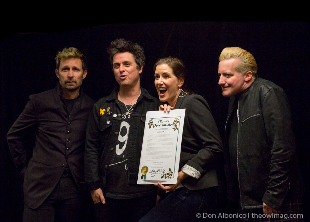 Green Day w/ Mayor Libby Schaaf in UnderCover Presents, Green Day's Dookie @ Fox Theater, Oakland 2-19-2016