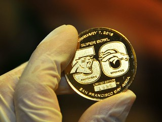 Super Bowl 50 gold coin