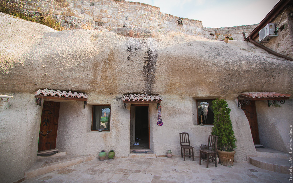 Outside Grand Cave Suites, Cappadocia