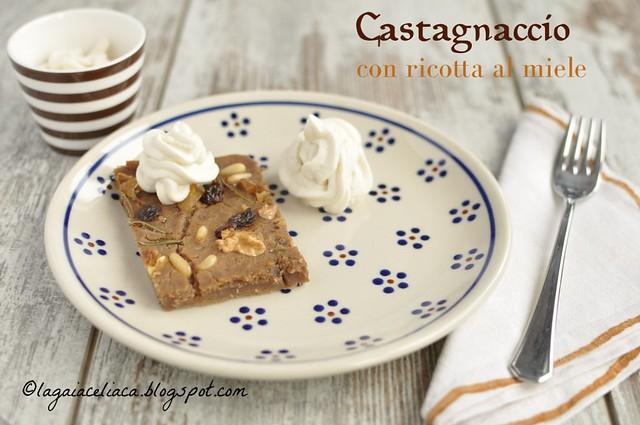 Castagnaccio naturalmente senza glutine con ricotta al miele