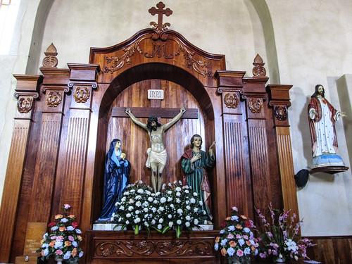 San Cristóbal de las Casas:  les souffrances de Jésus, les genoux et les stigmates (pieds, mains, tête et flanc) en sang