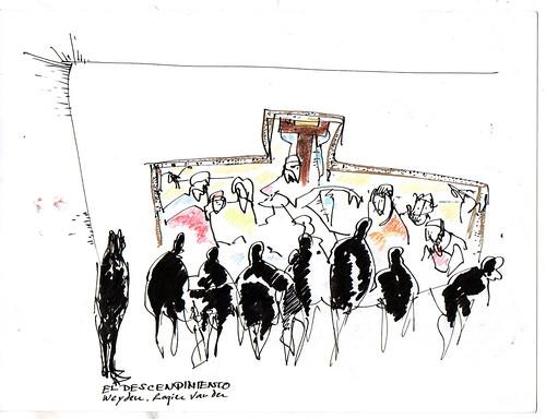 atisbando el descendimiento en el Prado, Madrid