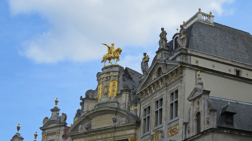 Gilded Buildings in the Grand Place in Brussels, Belgium