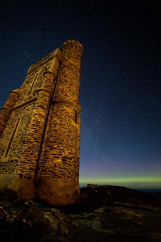 Aurora from Bradda Head and Milner's Tower