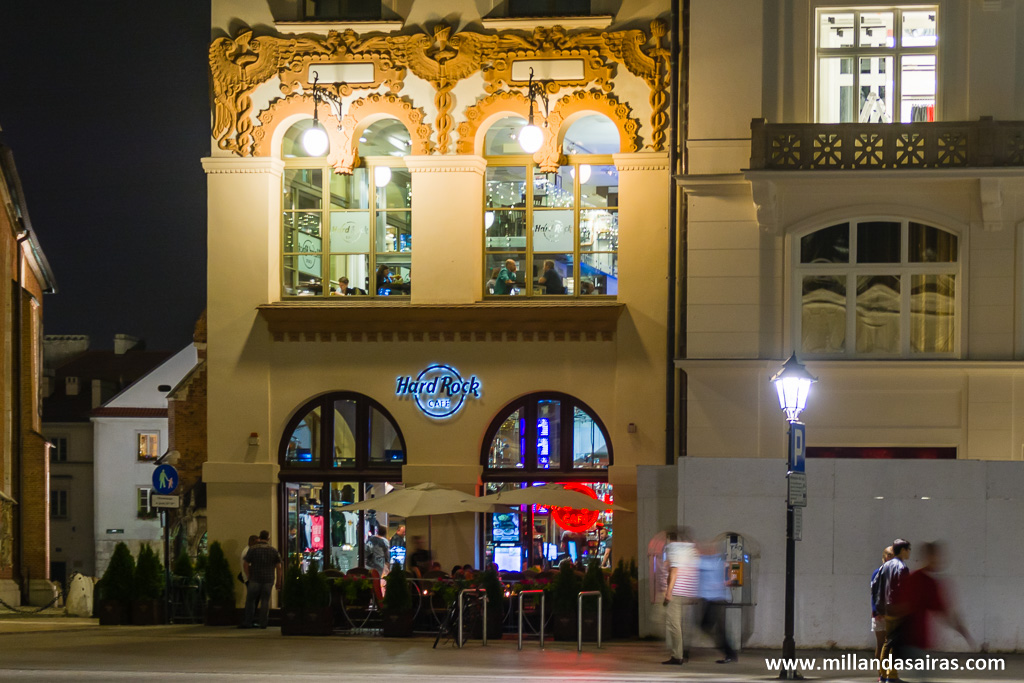 Hard Rock Café en el centro de Cracovia