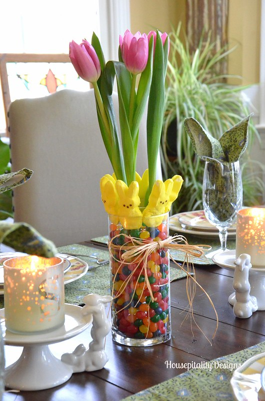 Jelly Bean/Peeps Centerpiece - Housepitality Designs