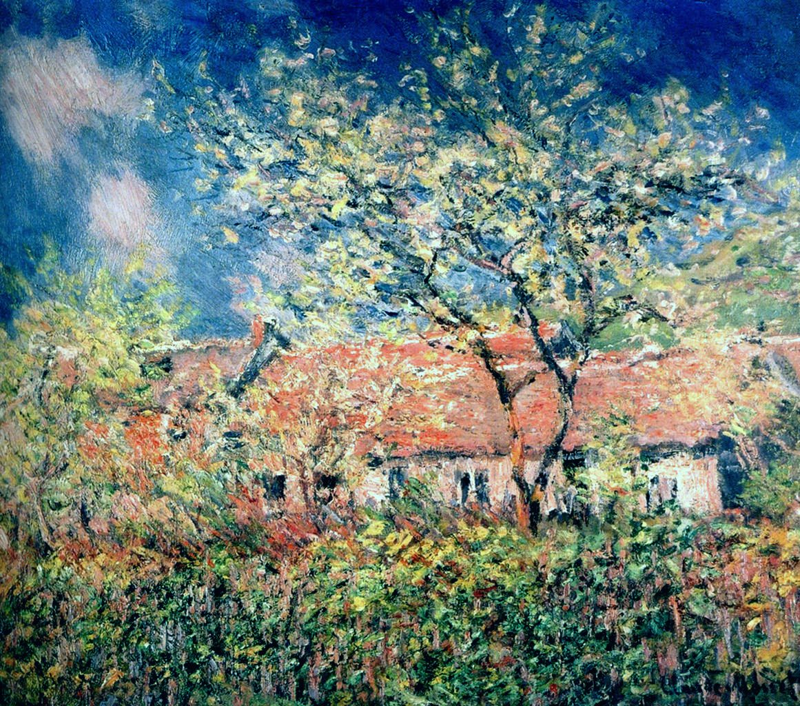 Springtime at Giverny by Claude Monet, 1886