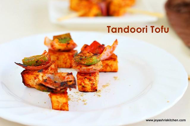 Tandoori tofu recipe | Tofu recipes | Jeyashri's Kitchen