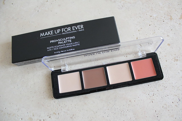 Make Up For Ever Pro Sculpting Face Palette review and swatch