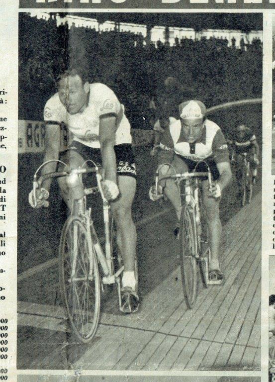 Trofeo Fenaroli 1955 vittoria di Benedetti su Nascimbene (foto inviata dal sig. Dario di Casteggio PV)