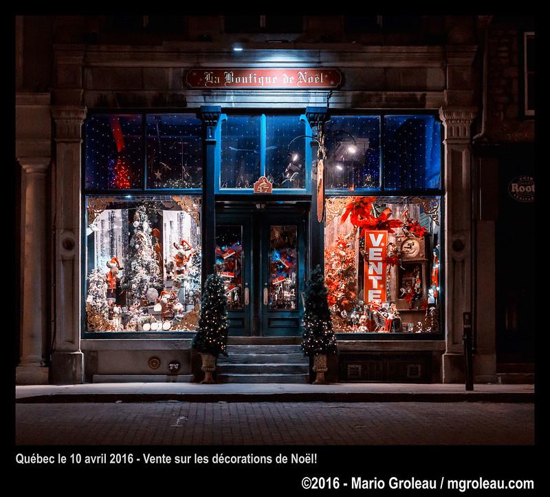 Québec le 10 avril 2016 - Vente sur les décorations de Noël!