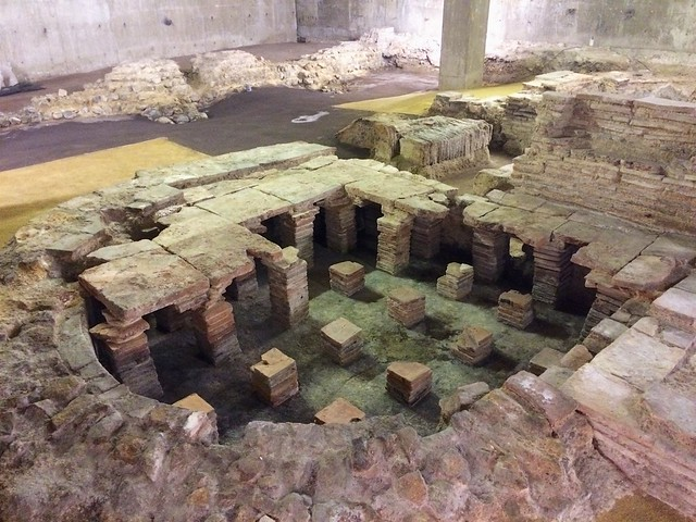 Underfloor heating, Billingsgate Roman House & Baths