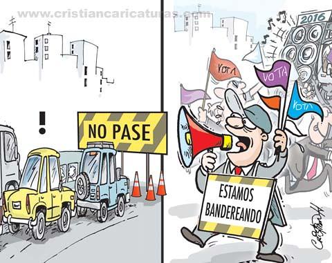 Caricatura bandereando