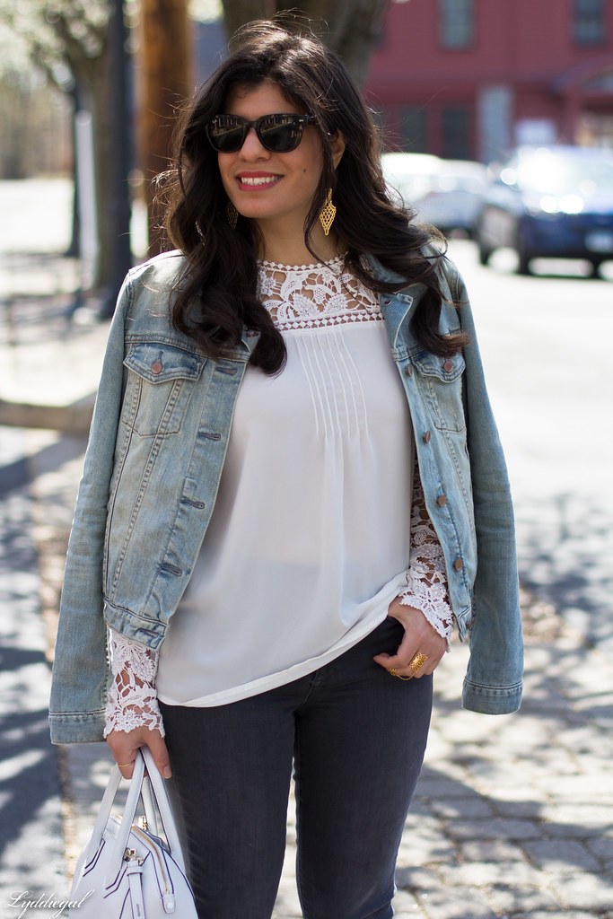 lace blouse, grey jeans, denim jacket, lace up flats-6.jpg