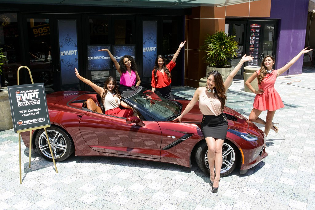 Royal Flush Girls with Monster Tournament of Champions Corvette