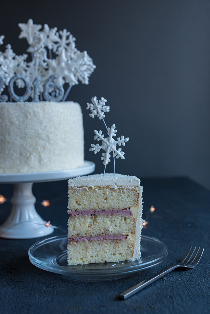 Kir Royale New Years Champagne Layer Cake www.pineappleandcoconut.com